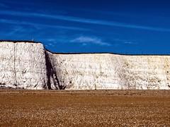 Rottingdean cliffs _1020160 (friendlydrag0n) Tags: south england east sussex rottingdean beach chalk cliffs geology blue sky tricolore