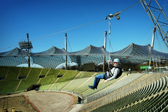 FlightAcrossTheOlympicStadium (BphotoR) Tags: munich flight olympic stadium