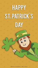 St. Patrick's Day for mobile wallpaper (Veronica Newville Mendietta) Tags: illustration diseño design il mobile stpatricksday patricksday ireland saintpatricksday irlanda elf leprechaum shamrock shamrocks green enap unam wallpaper march17