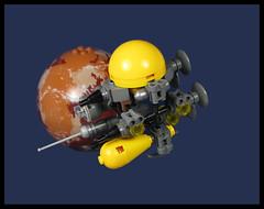The Survey Ship. 'Cubonic Flayed' (Karf Oohlu) Tags: lego moc microscale scifi microspacetopia syrveyship tatooine