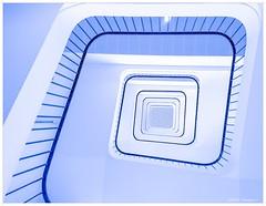 Lines & Curves (chtimageur) Tags: stairs lines curves hopitalclaudehuriez lille chru blue marches lignes courbes art samsungs7