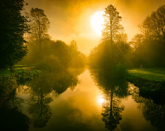 Sunrise Syon Park Gardens by Simon & His Camera (On Explore 6th Apr 2017) (Simon & His Camera) Tags: simonandhiscamera sky syon syonhousepark syonpark symmetry syonhouse shade sun sunlight sunrise spring morning lake london landscape orange water gardens fog middlesex mist horizon iconic isleworth outdoor reflection river vignette woods yellow nature shadow explore trees