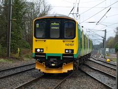 London Midland Class 150 Sprinter 150107 cruises through Barnt Green (Oz_97) Tags: barntgreen londonmidland 150107