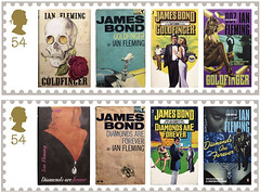 Britische Post verˆffentlicht Briefmarken mit James Bond-Motiven Ein Geheimagent zum verkleben (SilviaMaja) Tags: briefmarken james ianflemming post kultur grosbritannien literatur jamesbond london grofbritannien