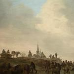 GOYEN (van) Jan,1646 - Patineurs sur le Merwede près de Dordrecht (Custodia) - Détail 14 thumbnail