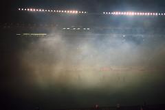 (Nothing is surrender) Tags: football foot stadium beograd derby derbi crvenazvezda red partizan smoke serbia srbija nikonf90 nikon f90 redstar
