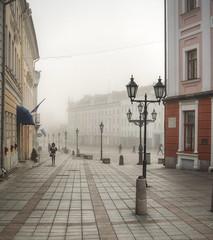 Tartu Town Square in the fog (neilalderney123) Tags: ©2017neilhoward landscape olympus travel fog city tartu estonia