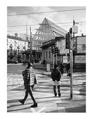 Milan, Italy (feb 2017) (pietrowsky) Tags: streetphotography blackandwhite filmisnotdead filmphotography fujifilm ga645 milano milan darkroom agfa r09 oneshot rodinal kodak tmax chinese girl woman walking neorealism mediumformat medium format black white monochrome monocromatico biancoenero camera oscura sviluppo italy italia cinese donna ragazza cammina passeggiare strada urban ambiente urbano