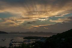 Dawn - Tortola,  BVI (bvi4092) Tags: nikon d300s photoshop nikkor 18105mmf3556 outside outdoor nikon18105mmf3556 travel bvi britishvirginislands caribbean westindies sea tortola sky landscape yacht dawn roadtown roadhabour island