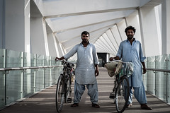 Bridge Bike Boys - Jumeirah, Dubai - Leica M10 (Sparks_157) Tags: 50mmf14summilux amit dubai dubaiwatercanal leica leicam10 m10 uae amitkar architecture bicycles bridge canal city life men outdoor people portrait rangefinder streetscene urban workers jumeirah walkway