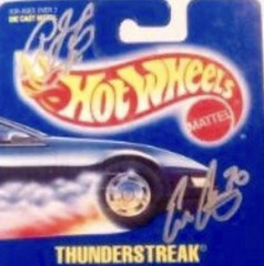 #15-41(C), INDY, IRL, CART, Ed Carpenter, and Honda driver Signing #15-41, Hot Wheels, 1991, Thunderstreak, Collector #153 (Picture Proof Autographs) Tags: 1541 indy irl cart edcarpenter andhondadriversigning1541 hotwheels 1991 thunderstreak collector153 diecast blisterpack with pictureproofphotos ppp