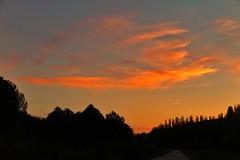 Sunset in Castilla (marysaesteban) Tags: sunset landscape sanmigueldelarroyo valladolid spain españa paisaje nubes clouds atardecer puestadesol country campo contraluz