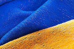 Orange and Blue (stgenner) Tags: macromondays orangeandblue tuch towel bath stefangenner
