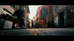 Balat, Istanbul (emrecift) Tags: candid portrait cityscape street photography istanbul cinematic 2391 anamorphic crop grain sony a7 alpha legacy lens glass canon new fd 24mm f28 wide angle emrecift
