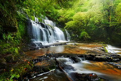 Do go chasing waterfalls (Anna Gorin) Tags: purakaunuifalls thecatlins newzealand southisland waterfall longexposure forest canon 7d tamron 1024mm landscape nature travel green fairytale ethereal