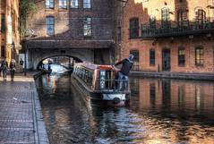 Narrowboat negotiating the Broad St. Tunnel, Birmingham (neilalderney123) Tags: ©2017neilhoward boat canal olympus omd narrowboat birmingham gas england