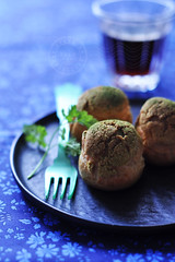matcha green tea cream puff (*steveH) Tags: matcha greentea puff sweet baking homemade food steveh