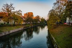 Ljubljanica River (Stergios Roumeliotis) Tags: ljubljanica green calmwater river blue ljubljana slovenia si