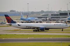 "Delta Air Lines N821NW Airbus A330-323 cn/865 ""3321"" @ EHAM / AMS 07-06-2016 (Nabil Molinari Photography) Tags: delta air lines n821nw airbus a330323 cn865 3321 eham ams 07062016"