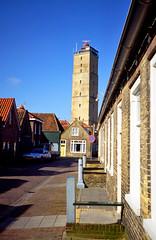 Terschelling, vuurtoren de Brandaris, Nederland 1987 (wally nelemans) Tags: terschelling vuurtoren lighthouse brandaris nederland holland thenetherlands 1987