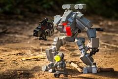 Work together (yudho w) Tags: legocastle afol mech legomech mecha myowncreation bricks yudho armor robot