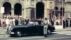 Governor's Arrival on Anzac Day (Leonard J Matthews) Tags: gpo generalpostoffice brisbane queenstreet queensland australia governor slidecollection anzacday daimler viceregal