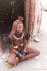 Young Himba Woman 8845 (Ursula in Aus) Tags: africa himba himbavillage namibia otjomazeva
