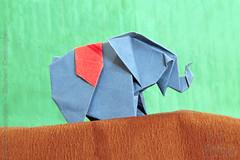 Fumiaki Kawahata - Elephant Cambodgien (IverRu) Tags: iver kawahata animal elephant origami животные слон оригами
