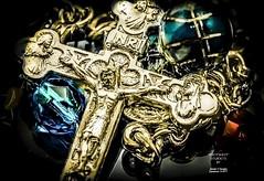 FinalDivineMercyPrayerBeadsPhotShot (Spotty999999) Tags: divinemercy prayerbeads easter sunday 51macro crucifix preciousstones gold saintfaustina inri jewelry religion christianity jesuschrist omdem1markii macrotent hotlights