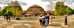 Indian Tourists and The Albert Hall (Geoff Henson) Tags: london kensington alberthall tourists fisheye nikond5500 samyang8mm
