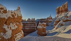 We are an impossibility in an impossible universe… (ferpectshotz) Tags: sunsetpoint brycecanyon nationalpark sunrise hoodoos snow snowstorm morning