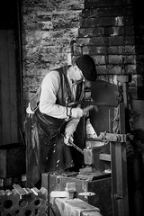 At work (Arvor Photography) Tags: 2017 arvorphotography bclm birmingham blackcountrylivingmuseum blackcountrytown blacksmith chainmaking chainmakingshop darylhutchinson dudley forge landscapephotography westmidlands industriallandscape openairmuseum