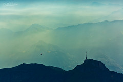 Alpstein - Sunrise (Rita Eberle-Wessner) Tags: alps alpen alpstein appenzell switzerland schweiz mountains berge gebirge berg heisluftballon ballon balloon sunrise sonnenaufgang landschaft landscape säntisgipfel morgen hoherkasten panoramiomeeting