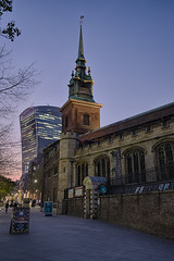 All Hallows by the Tower (chabish123) Tags: all hallows london blue hour church fuji xpro2 lightroom hdr