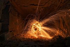 Flushness. (Yvan S) Tags: cave cavern red sparks flow round light illuminate flush flushness sphere sphère globe fire rock stone dig career quarry grotte rouge étincelle flux écoulement lumière rond illuminé feu pierre roche creusé carrière france canon 77d