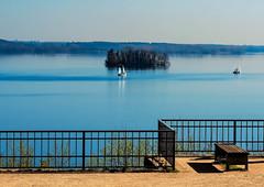 lakeside idyll (claudia.kiel) Tags: plön deutschland de schleswigholstein see lake lakeside insel island segelboot sailboat landschaft landscape seascape