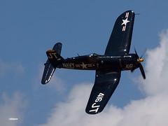 170311_045_TiCo_F4U (AgentADQ) Tags: tico warbird air show 2017 titusville florida airshow wwii fighter plane airplane aviation jim tobul korean war ace vought f4u4 corsair hero