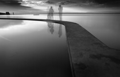 Come join my picture! (Rep001) Tags: clevedon northsomerset uk marinelake le bw 4751