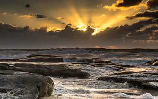 Sunrise at Point Cartright, Sunshine Coast.