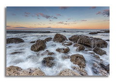 Boulder Dash (Steven Peachey) Tags: seascape sea sky rocks sunset water stevenpeachey lightroom manfrotto leefilters lee09gnd canon6d canon northeastcoast uk england