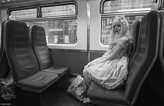Princess of Suburbia © (wpnewington) Tags: suburbia trains passengers cosplay japan doll lolita