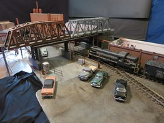 Setup Shot - Steel Mill Parking Lot - 1957 (Michael Paul Smith) Tags: steel mill model 124th scale diorama 1950s setup shot
