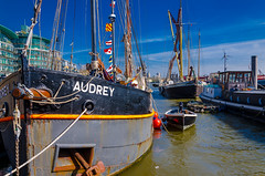 Sailing Barge Audrey DSC_3525.jpg (Sav's Photo Gallery) Tags: city uk travel sunset london water thames photography evening cityscape capital landmark gb rowboat iconic barge sailingbarge d7000 savash