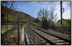 The Long wait to run away .. (Luca Cipriani Unlight Project Photography) Tags: travel italy train escape pentax rails naturelovers celano pentaxkr flickrandroidapp:filter=none