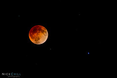 Red Moon and Spica (Nick Chill Photography) Tags: moon photography nikon iowa decorah lunareclipse bloodmoon spica d600 stockimage nickchill april2014