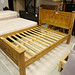 Dbl pine framed bed frame