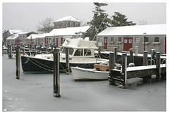 Boat Basin in Winter - Nantucket (Massachusetts Office of Travel & Tourism) Tags: winter snow ice marina boats capecod massachusetts nantucket boatbasin