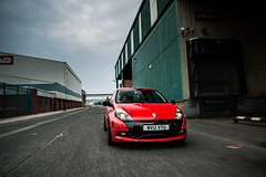 Ultra Red Clio 200 (Niall97) Tags: uk red england green cars cup car canon manchester eos 50mm bokeh britain f14 performance sigma clio automotive renault 200 ag l 5d british ur 20 fullframe trafford f28 markii 70200mm mkiii mk3 mark3 2470mm traffordpark renaultsport hothatch ultrared aliengreen cuppack
