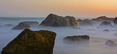Misty Rocks (Thomas Hutchings) Tags: ocean sunset mist seascape color misty canon landscape aperture rocks slow wildlife ngc shutter 60d fotocompetition fotocompetitionbronze flickrbronzetrophygroup