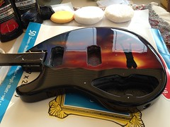 All lacquered, sanded and buffed... And looking gorgeous! (colinp_hughes) Tags: art guitar handmade airbrush airbrushart customguitar airbrushedguitar